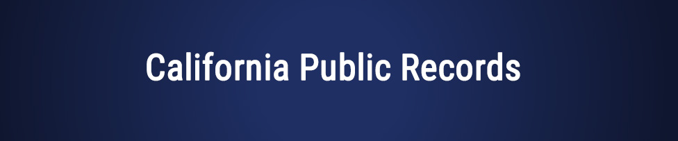 California Public Records
