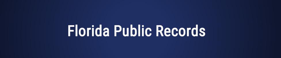 Florida Public Records