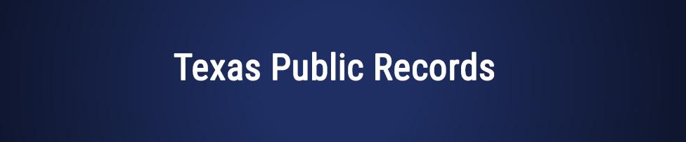 texas public records