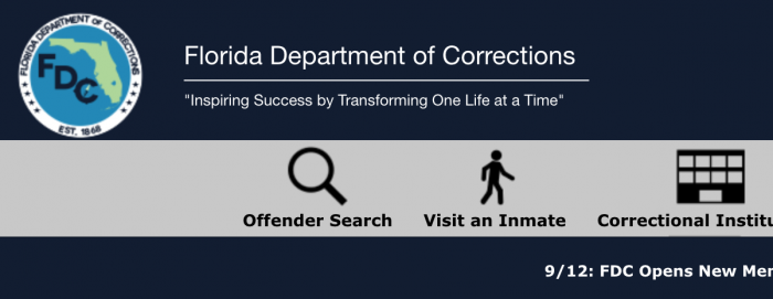 flordia state prison background check
