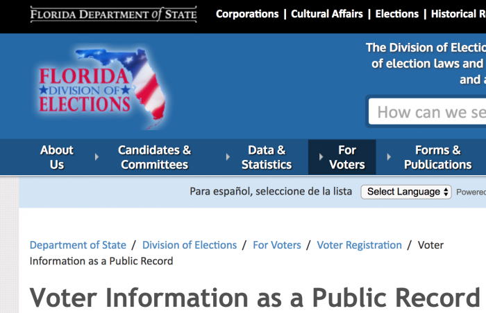 state of florida public record search