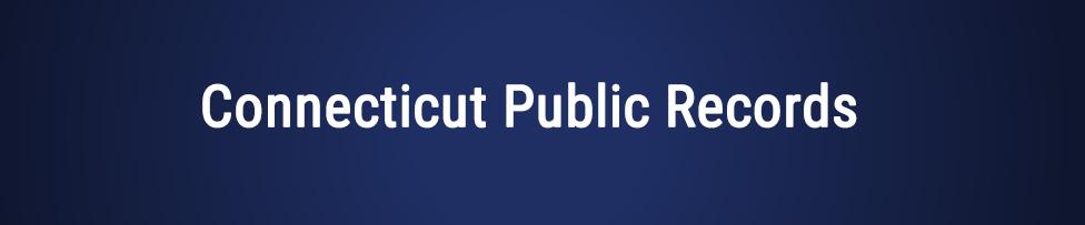 Connecticut Public Records