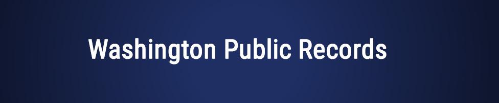washington public records