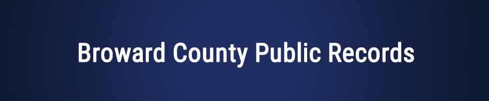broward county public records