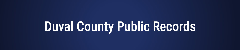 Duval County Arrest, Court, and Public Records