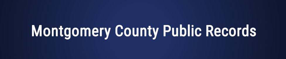 Montgomery County Public Records
