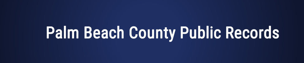 palm beach county florida public records