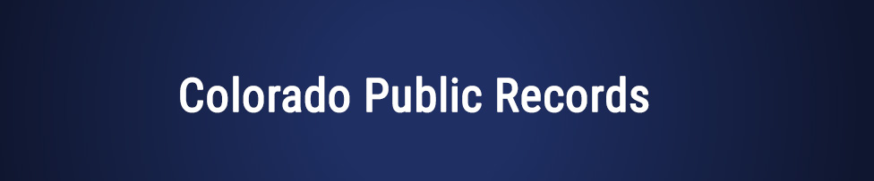 Colorado Public Records