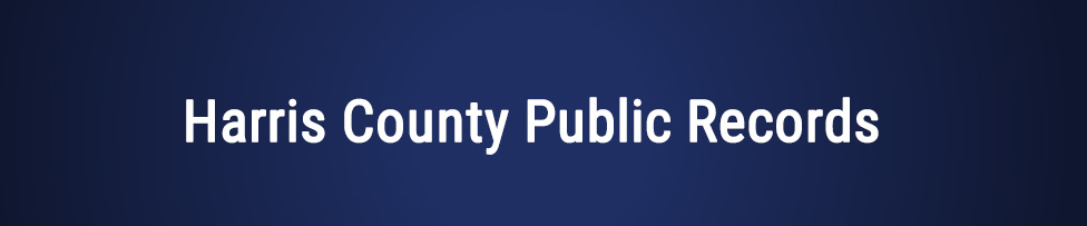 harris county public records