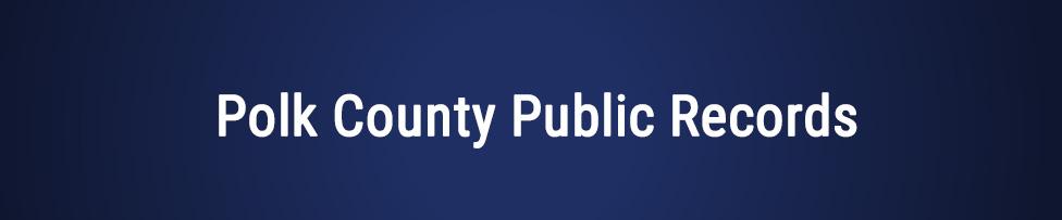 polk county public records