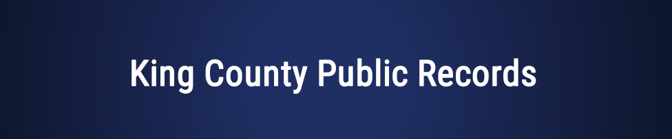 King County Public Records