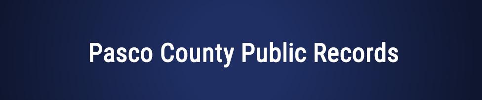 pasco county public records