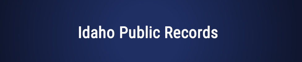 idaho public records